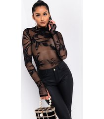 akira now or never long sleeve lace collared bodysuit