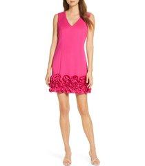 women's donna ricco cupcake hem scuba sheath dress, size 8 - pink
