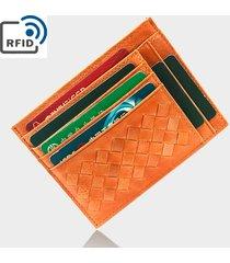 rfid antimagnetic 12 slot per schede vera pelle porta carte di credito per uomo