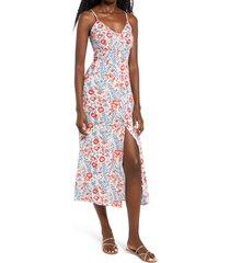 women's billabong sugared life sleeveless midi dress
