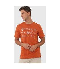 camiseta dzarm estampada laranja