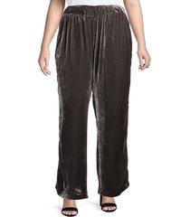 johnny was women's plus ravi velvet pants - graphite - size 2x (18-20)