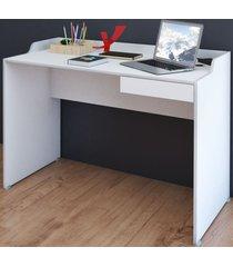 mesa escrivaninha slim ii gaveta branco - artany