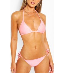 mix & match tie side bikini brief, coral