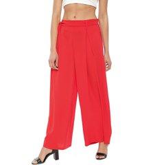 pantalón nrg liso rojo - calce holgado