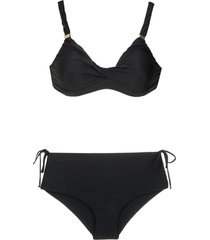 lygia & nanny hot pants bikini set - black