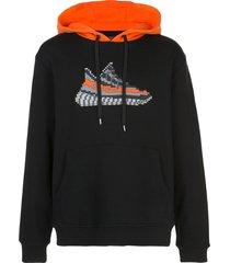 mostly heard rarely seen 8-bit aero jersey hoodie - black