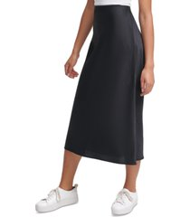 calvin klein jeans pull-on midi skirt