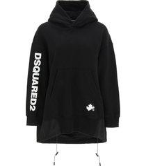 dsquared2 oversized sweatshirt with nylon insert