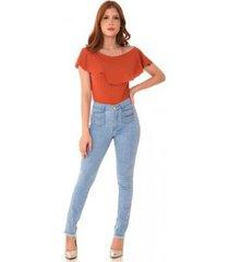 calça jeans express hot pants mareu feminina
