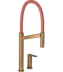 misturador monocomando para cozinha mesa deca colore red gold e bica terracota - 2289.gl.rd.tc - deca - deca