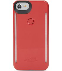 lumee women's light-up iphone 6 and 6s case - crimson red