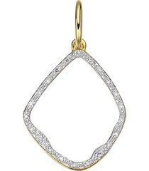 monica vinader riva diamond hoop pendant charm in yellow gold at nordstrom