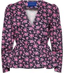 baya blouse blus långärmad rosa résumé