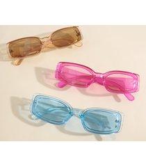 gafas de sol con montura cuadrada lisa de 1 pieza