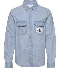 modern utility shirt overhemd casual blauw calvin klein jeans