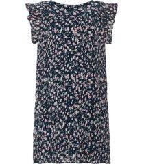 jurk geplooide bloemenprint