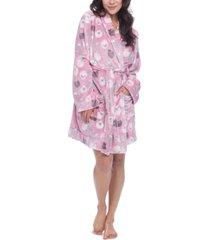 munki munki sheep-print cozy fleece wrap robe