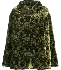 a.n.g.e.l.o. vintage cult 1990s textured patterned coat - green