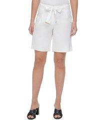 calvin klein belted cargo shorts