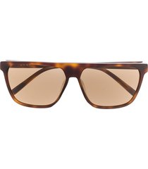 dkny straight top sunglasses - brown