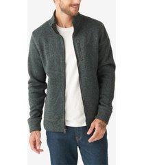 lucky brand men's los feliz fleece mock neck sweatshirt