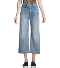 driftwood women's charlee high-waist cropped wide-leg jeans - light wash - size 26 (2-4)