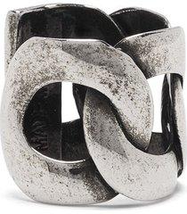 alexander mcqueen chain-link ear cuff - silver