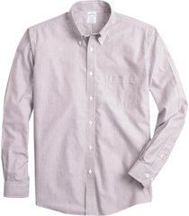 camisa non-iron regent fit- morado brooks brothers
