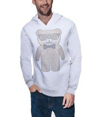 men's bear rhinestone hoodie