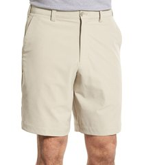men's cutter & buck 'bainbridge' drytec shorts, size 34 - beige