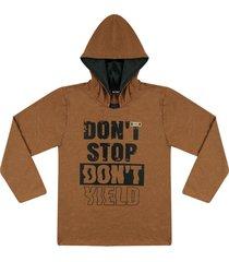 camiseta com capuz ser garoto marrom - marrom - menino - algodã£o - dafiti