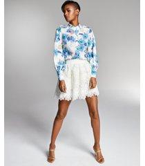 misa hylton for inc eyelet skirt, in regular & extended sizes, created for macy's