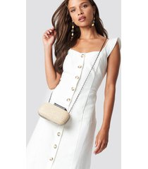 trendyol tulum button detailed midi dress - white