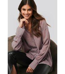 afj x na-kd loose fitted shirt - purple