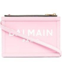 balmain b-army 26 clutch - pink