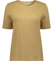 geisha 03546-60 025 top lurex rib knit gold