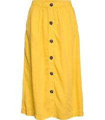 emmasz skirt knälång kjol gul saint tropez