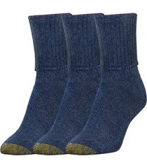 goldtoe women's 3-pk. bermuda socks