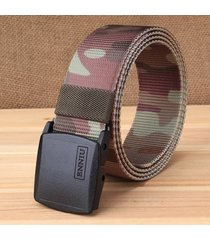 cinturón de hombres, cinturón de lona hipoalergénica-rojo