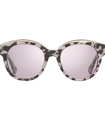 52mm modified oval sunglasses