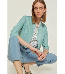 motivi giacca corta in similpelle donna verde