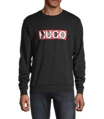 hugo hugo boss men's graphic cotton sweatshirt - black - size s