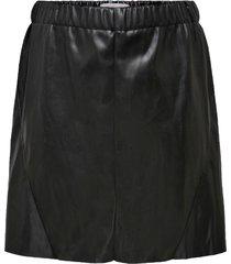 kjol carsima faux leather abk a-shape skirt