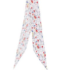 missoni floral pleated scarf - white