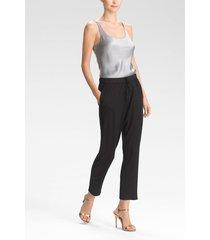 fuji pants, women's, white, silk, size m, josie natori