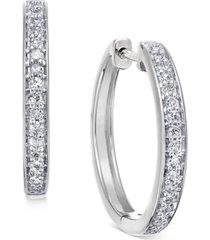 diamond hoop earrings (1/5 ct. t.w.) in 14k white or yellow gold