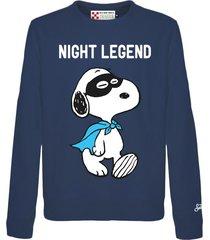 mc2 saint barth blue snoopy night roundneck sweatshirt