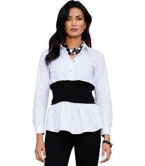 blouse amy vermont wit::zwart