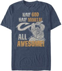 disney men's moana demi god all awesome short sleeve t-shirt
